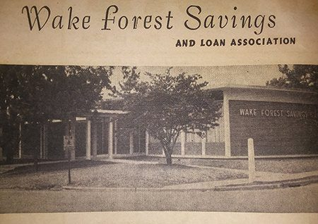 Wake Forest Savings and Loan Association 1963