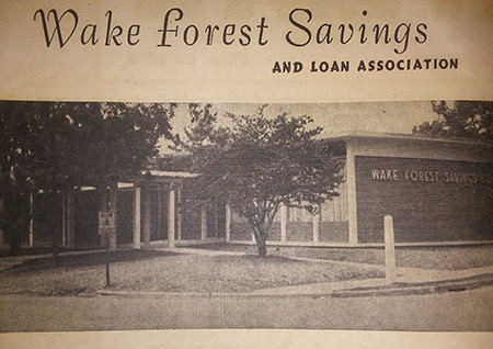 Wake Forest Bank History